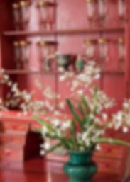 Jennie Schmid Design, Interior Design, Designer, Switzerland, Lausanne, Villa, Portfolio, dining room, Chinese secrétaire
