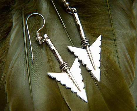 Cheveyo 925 Arrowhead earrings by Molax Chopa tribe