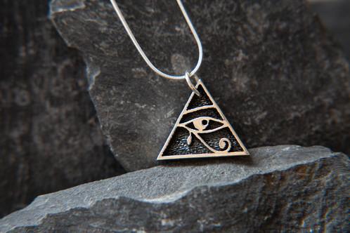 Safiya Pyramid Eye of Horus pendant  Egyptian Pendants