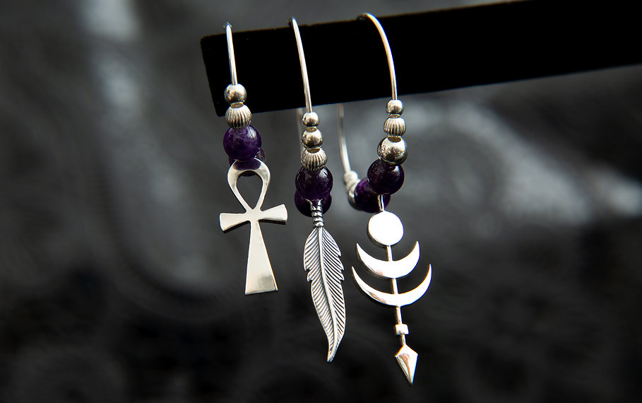 chopa tribe mixmatched hoop earrings