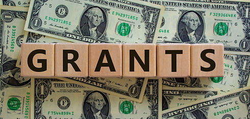 Concept word 'grants' on wooden cubes on