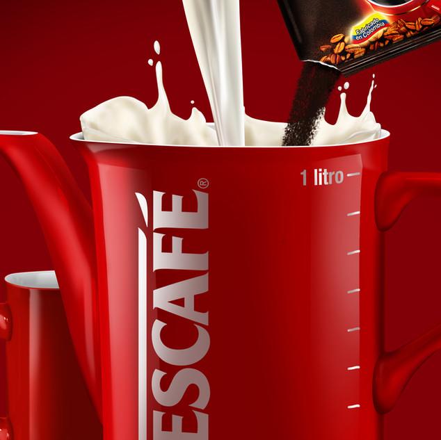 Nescafe 3d product shoot