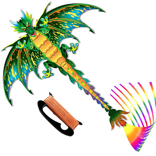 TECBOSS Kite, 2020 Upgrade Easy to Fly Dragon Kites for Kids Adults