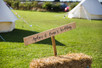 Laura & Andy's Glasto themed Yorkshire barns wedding!