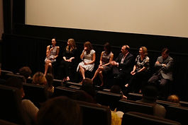 Emilie Sydney-Smith moderating a panel on endometriosis in New York