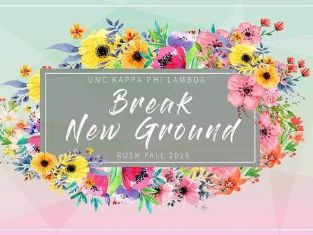 Fall '18 Rush: Break New Ground