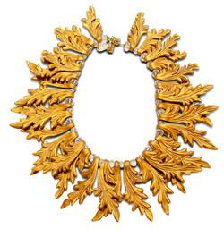 Golden frame statement necklace