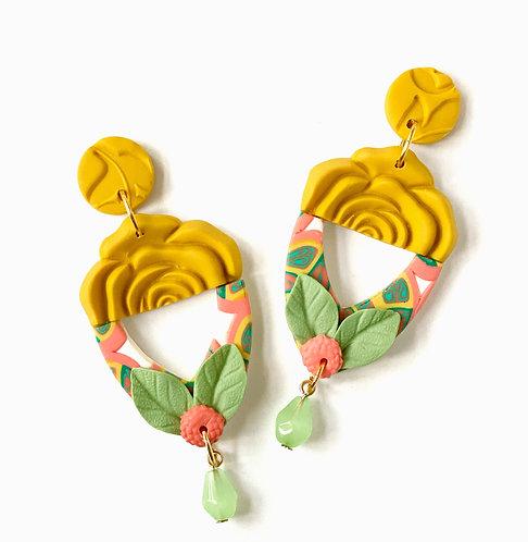 La Dolce Vita Flirty Floral Statement Earrings