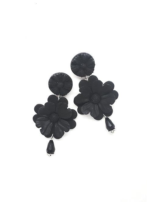 Double Flowers Statement Earrings