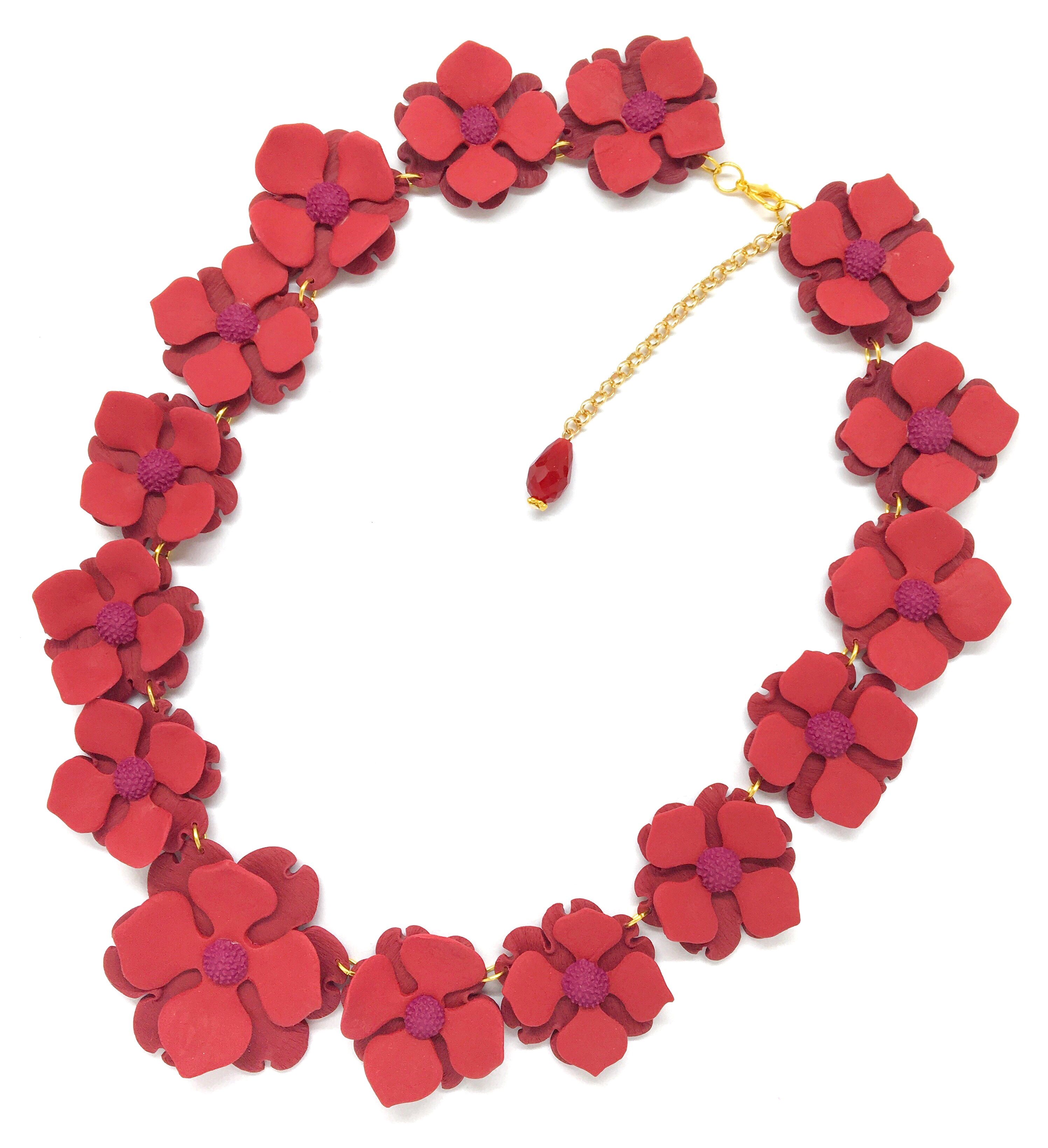 Simple flowers statement necklace