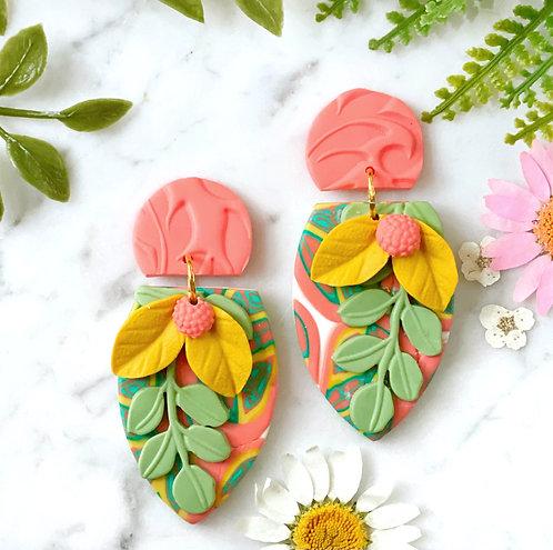 La Dolce Vita Lovely Leaves Statement Earrings