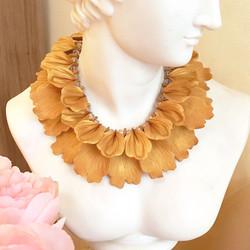 Golden petals statement necklace