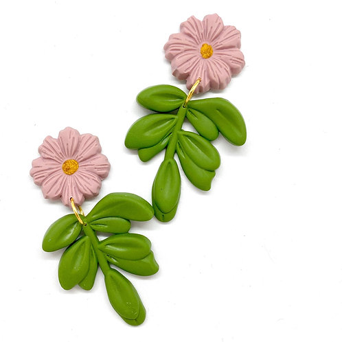 Antique Pink and Green leaves