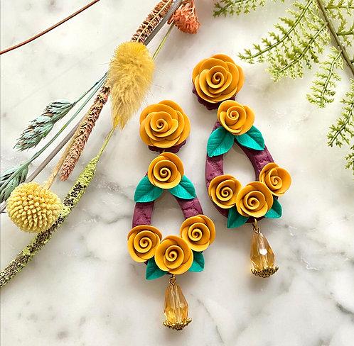 Romantic Rose Teardrop earrings