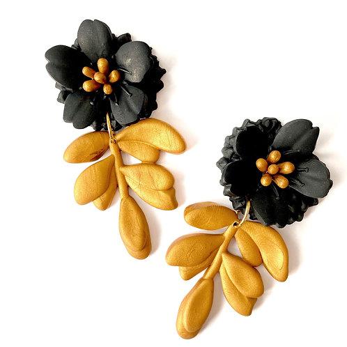 Petunia Flower Statement Earrings