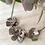 Thumbnail: Three Flowers, Bronze Statement Necklace
