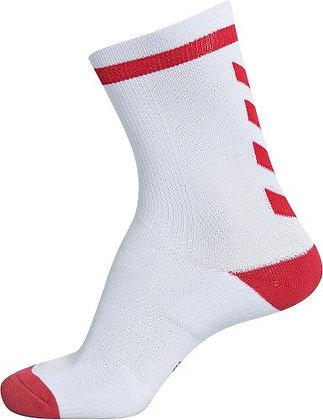 Chaussettes Elite blanc/rouge