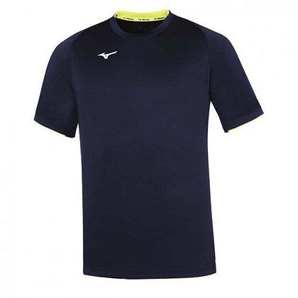 Tee Shirt Men Core Mizuno marine jaune