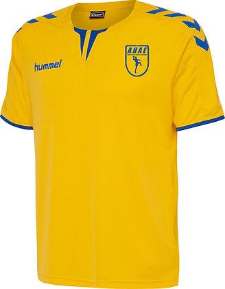 Maillot Core ss poly jaune bleu
