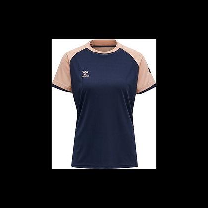 T shirt HML Action bleu  marine/rose