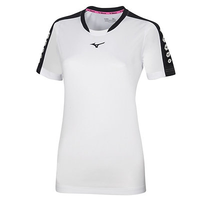 T shirt Women Mizuno Soukyu Blanc/Noir