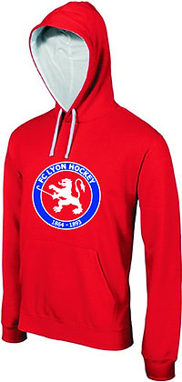 Sweat rouge à capuche junior