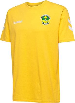 Tee-shirt coton jaune sénior
