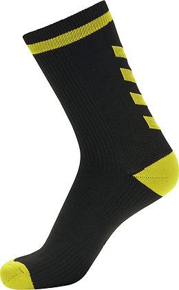 Chaussettes noires jaune