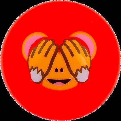 Emoji singe aux yeux fermés