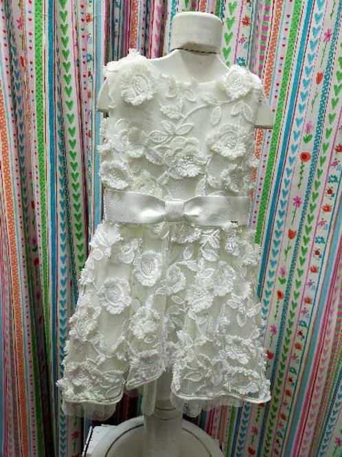 Vestido blanco de flores