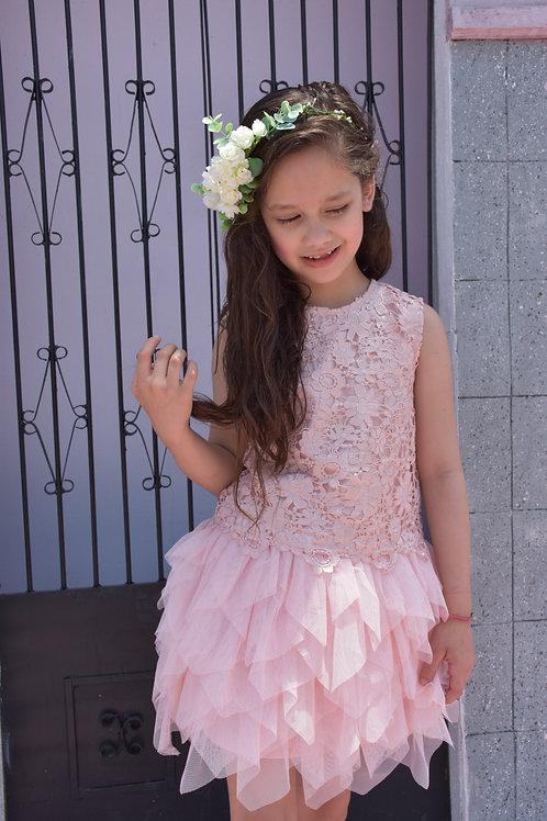 Vestido rosa tul