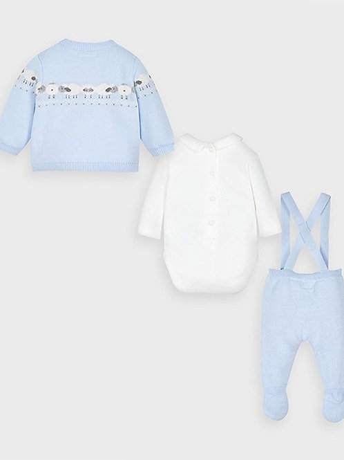 Conjunto 3 piezas color azul cielo
