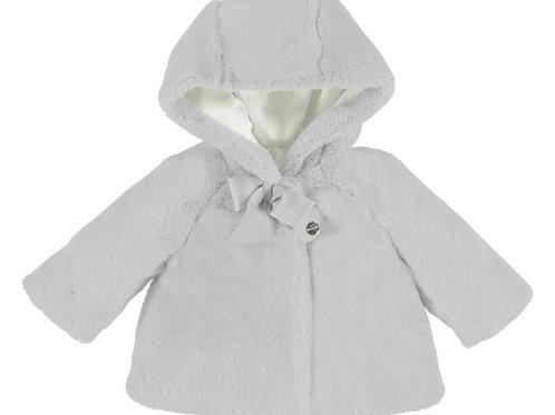 Abrigo gris peluche