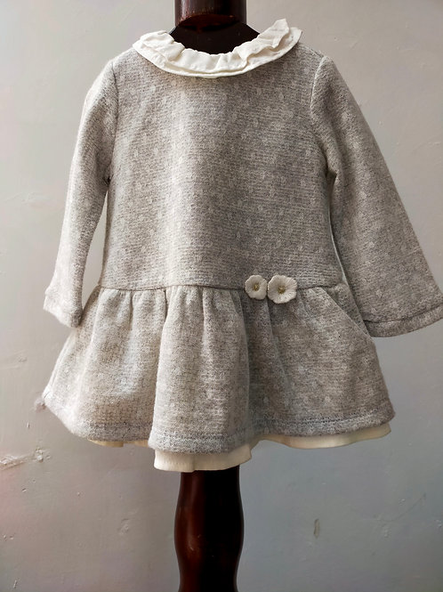 vestido color hielo con balerina $850