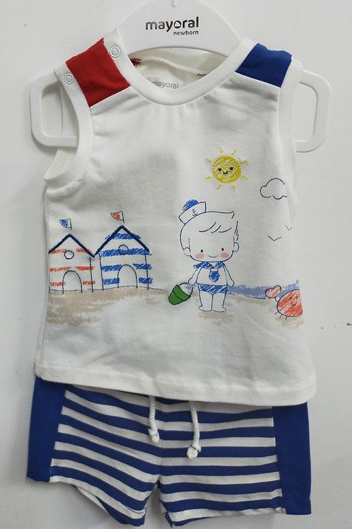 1636 Conjunto 2 piezas azul niño