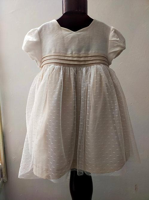 vestido encaje lino