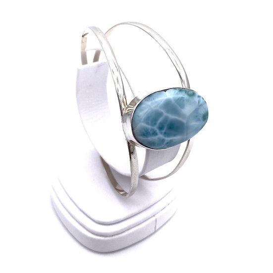 Larimar Oval Bangle Bracelet