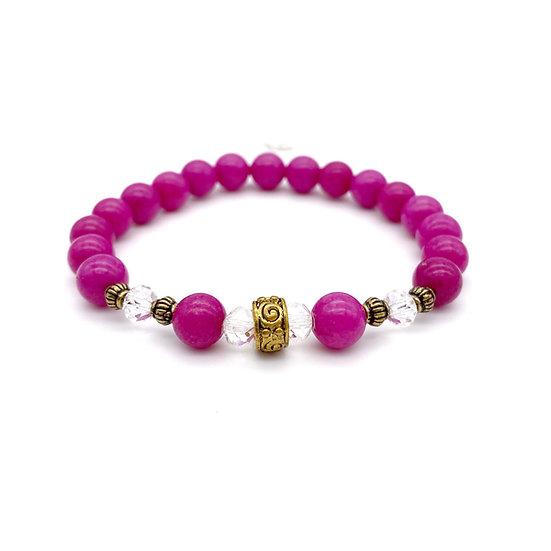 Pink Mountain Jade Bracelet