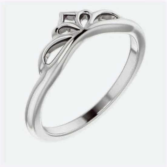 Crown Stackable Sterling Silver Ring