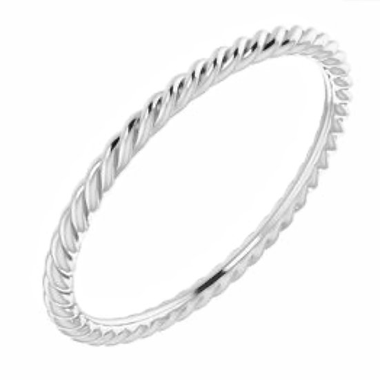 Rope Sterling Silver Stackable Ring