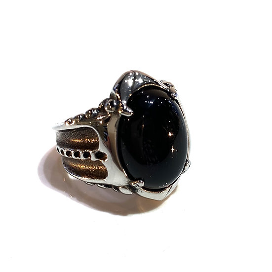 Onyx and Steel Ring