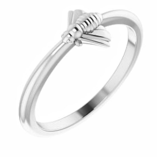Bee Sterling Silver Stackable Ring