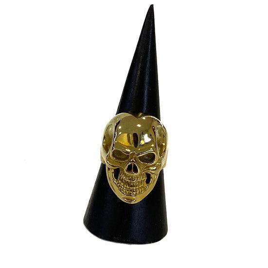 14K Gold Plated Skull Ring