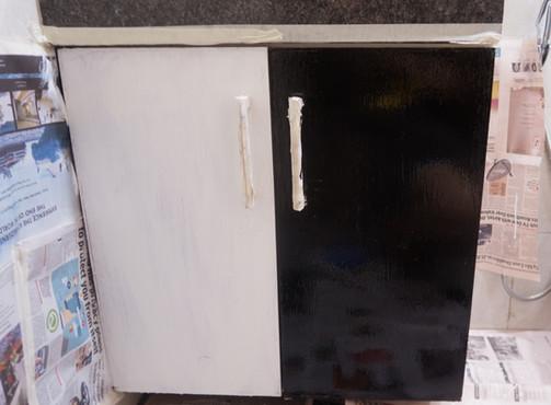 DIY Black Cabinets