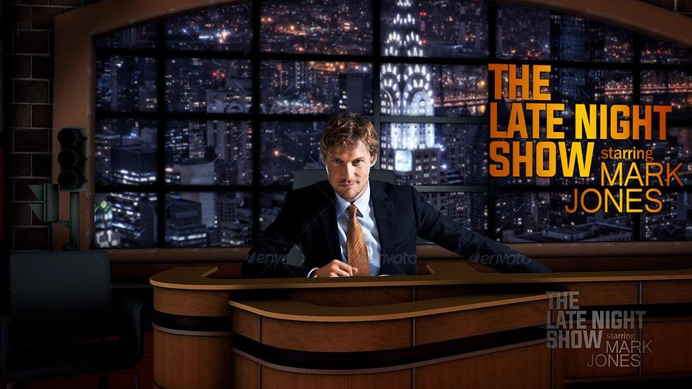 Late Night Show Virtual Studio Template