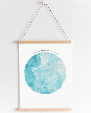 Kind Candle Art Prints - Rise Wall Hangi