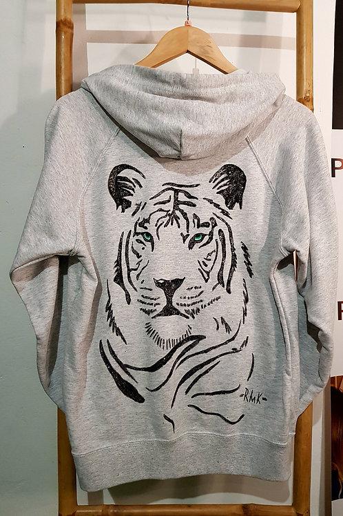 Sweatshirt white lion