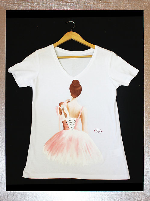 Handpainted customised tee shirt