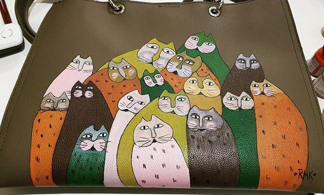 #rmkcreativ #handpaintedbag #cats #bag