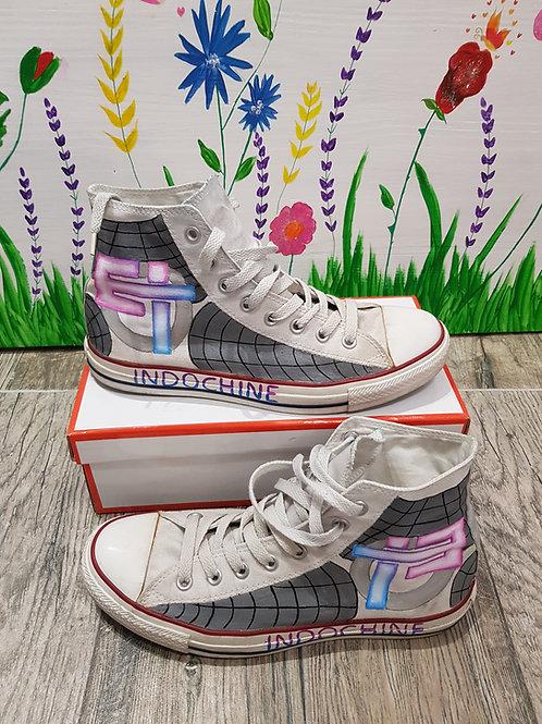 chaussures indochine peint à la main